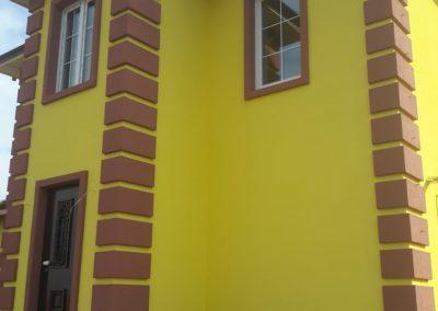 мокрый фасад частного дома в Уфе