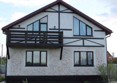 Облицовка фасадов домов в Уфе