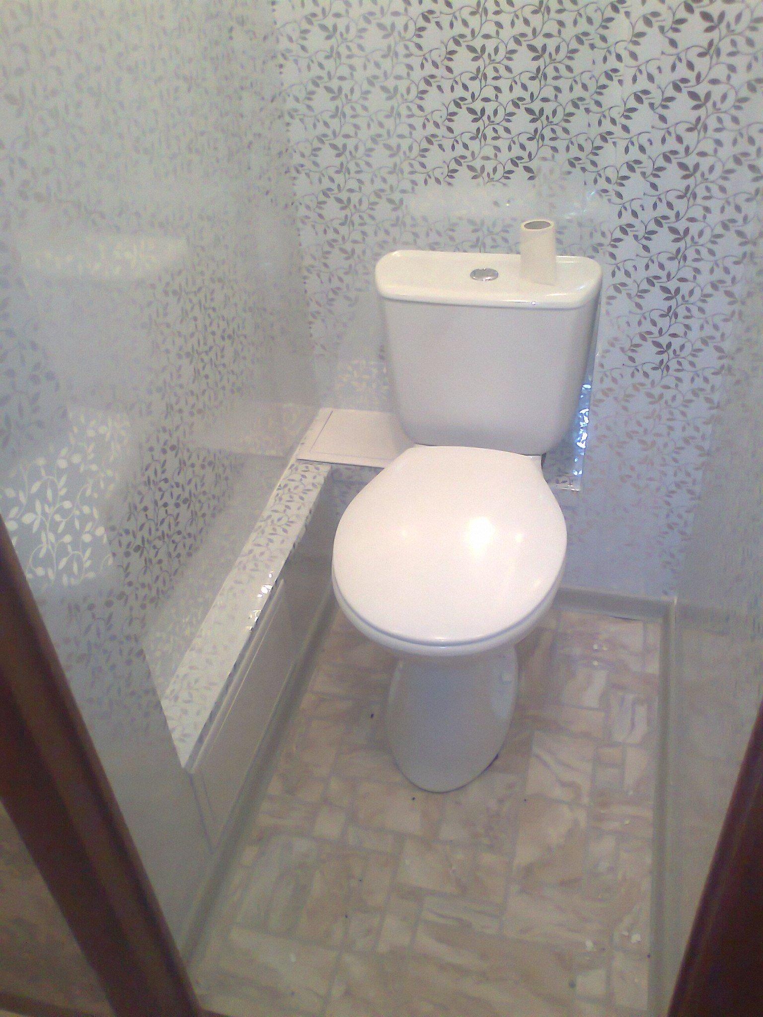 Обшить туалет пластиковыми панелями пошагово