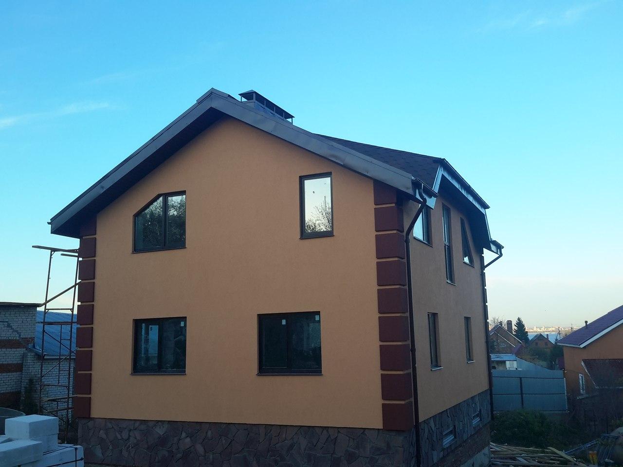 Штукатурка фасада дома из газобетона цена