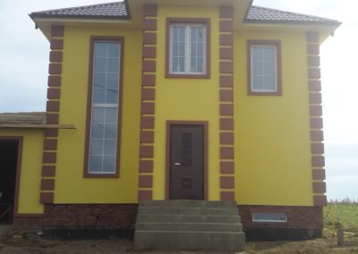 Отделка фасада частного дома в Уфе