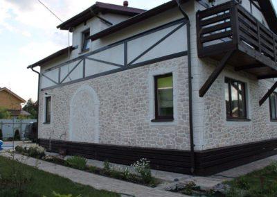 отделка фасадов домов в Уфе