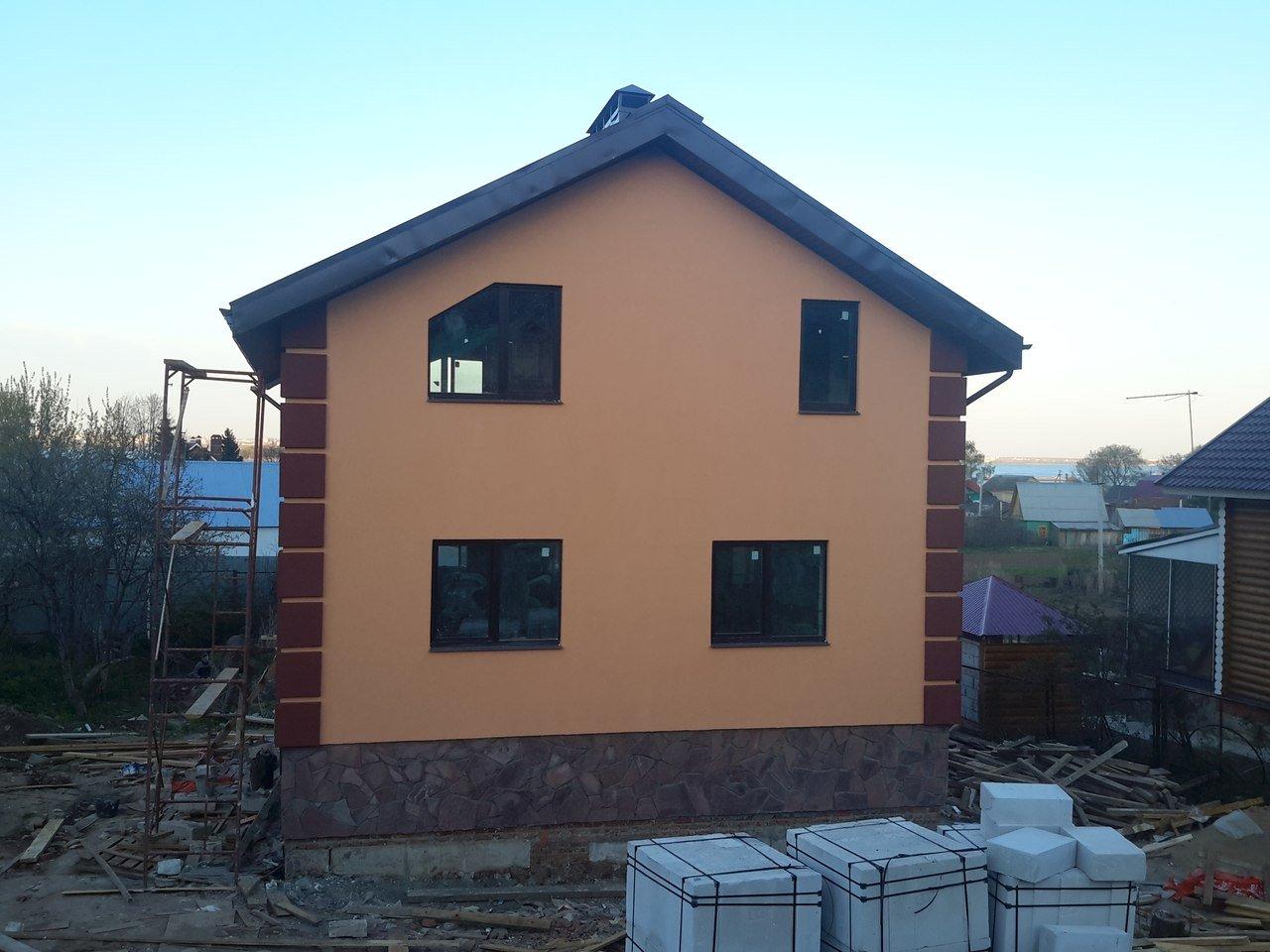 Отделка фасада дома материалы с утеплением