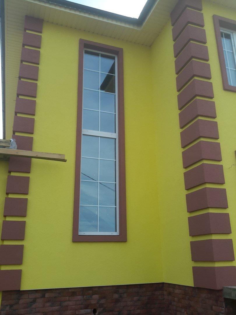Отделка фасадов частных домов пенополистиролом