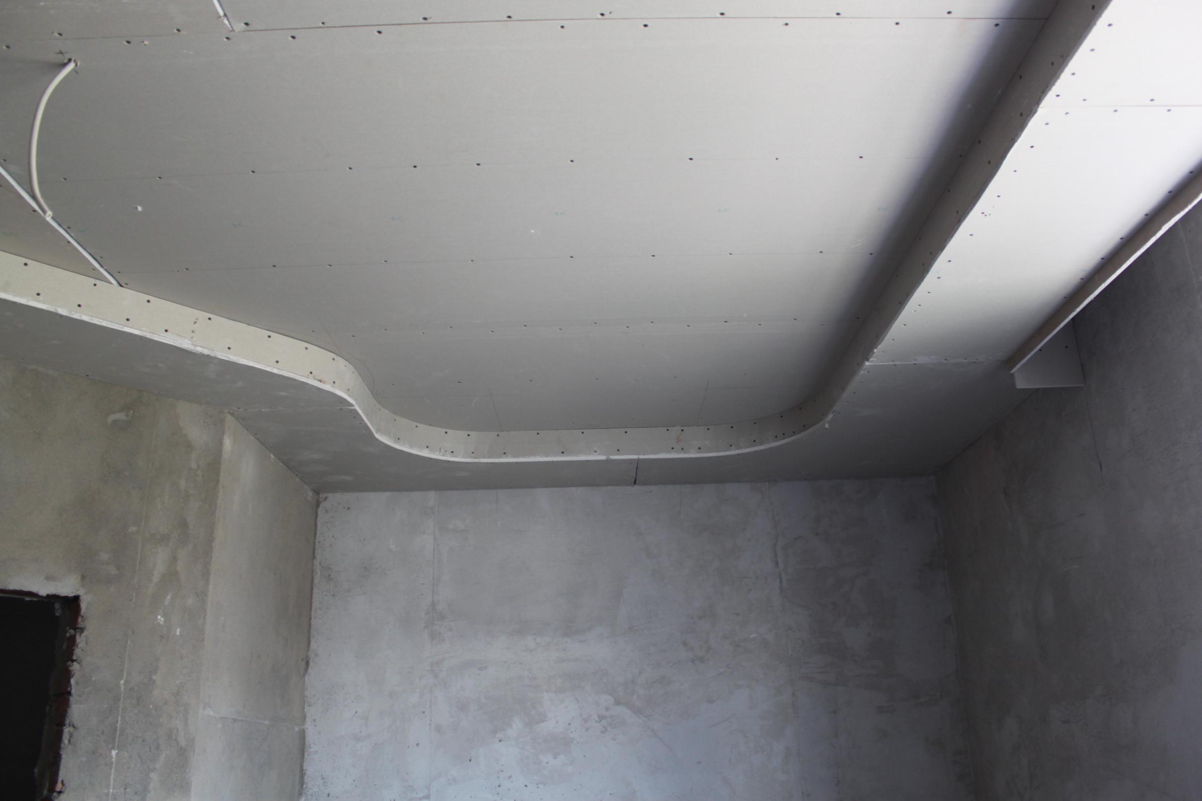 Как сделать потолок с гипсокартона фото