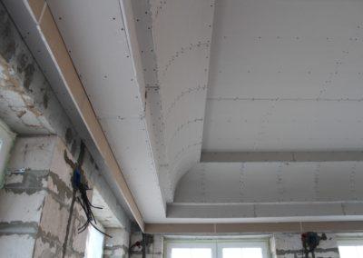 Монтаж потолка из гипсокартона в Уфе