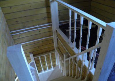 Деревянная лестница в Уфе