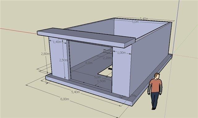 Гараж 2 этажа проект с ценами
