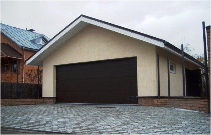 Проекты гаражей на две машины фото