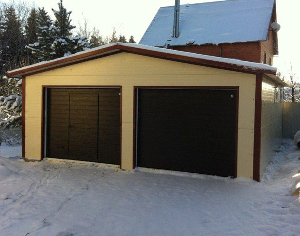 Размер гаража с мансардой