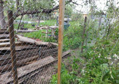 Забор из сетки рабицы в Уфе под ключ