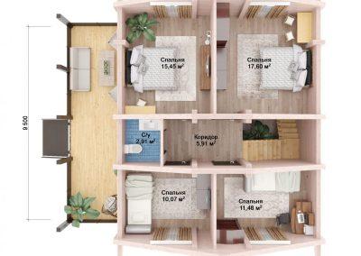 дом из бруса под ключ в Уфе